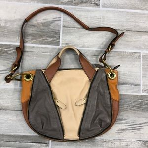 Anthropologie ORYANY Leather Colorblock Bag
